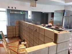 福山市内海町 店舗リフォーム-工事中の様子3